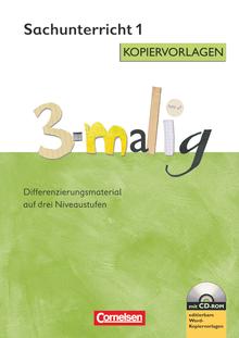 3-malig - Kopiervorlagen mit CD-ROM - 1. Schuljahr
