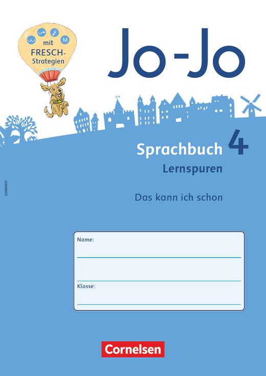 Jo-Jo Sprachbuch - Lernspurenheft - 4. Schuljahr