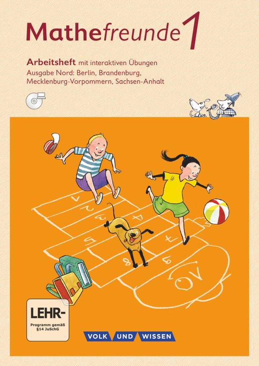 Mathefreunde - Arbeitsheft mit interaktiven Übungen auf scook.de - 1. Schuljahr