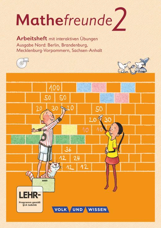 Mathefreunde - Arbeitsheft mit interaktiven Übungen auf scook.de - 2. Schuljahr