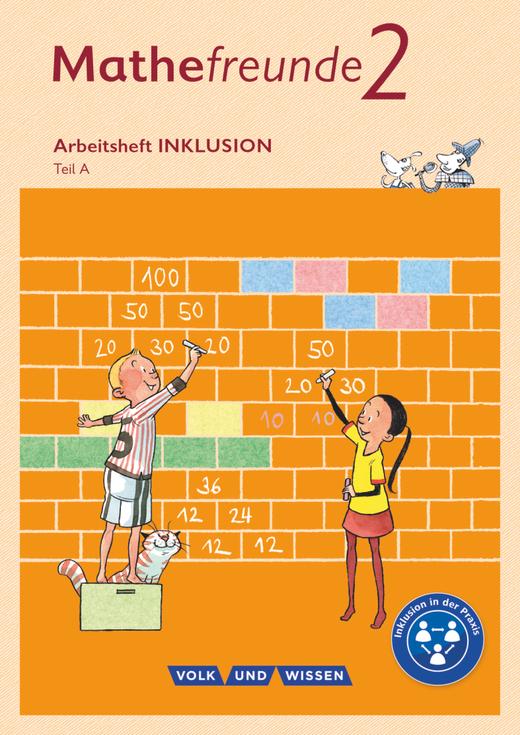 Mathefreunde - Arbeitsbuch Inklusion - Teil A und B - 2. Schuljahr