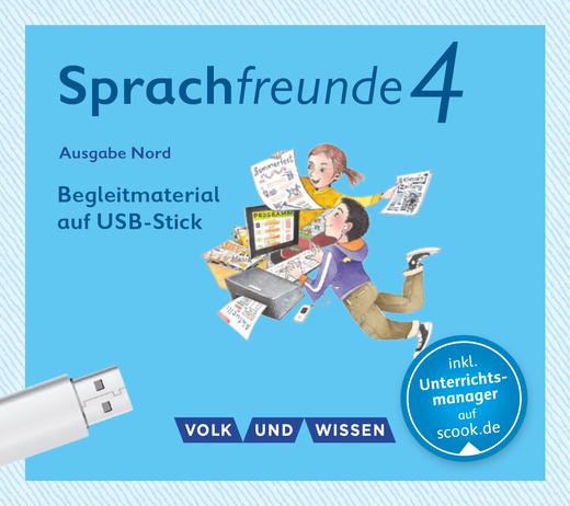 Sprachfreunde - Begleitmaterial auf USB-Stick - 4. Schuljahr