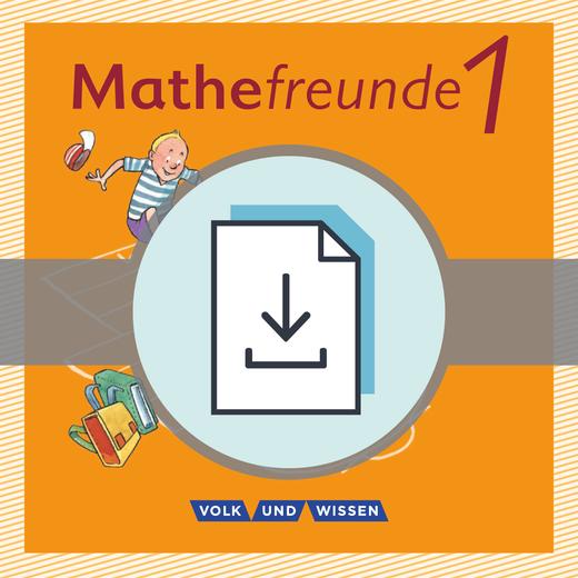 Mathefreunde - Lösungen zum Arbeitsheft Fördern als Download - 1. Schuljahr