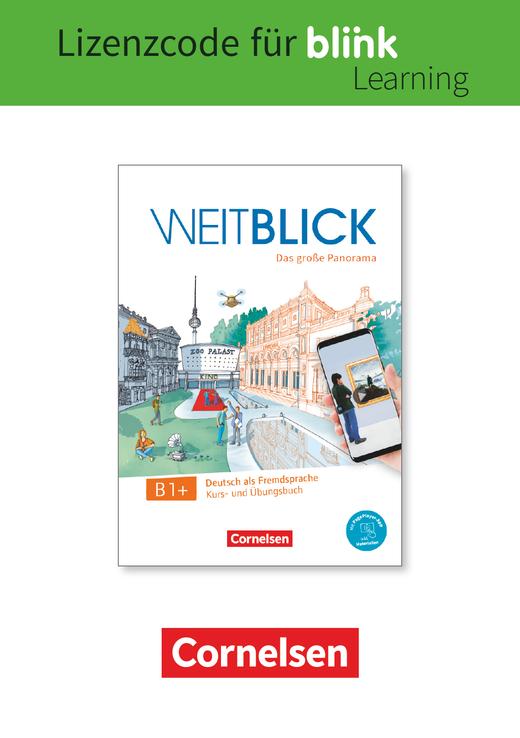 Weitblick - Kurs- und Übungsbuch als E-Book mit Audios, Videos und interaktivem Übungsteil - B1+