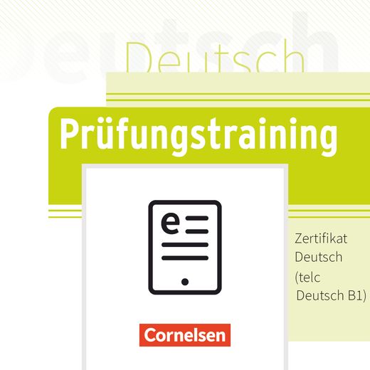 Prüfungstraining DaF - Zertifikat Deutsch/telc Deutsch B1 - Übungsbuch als E-Book - B1