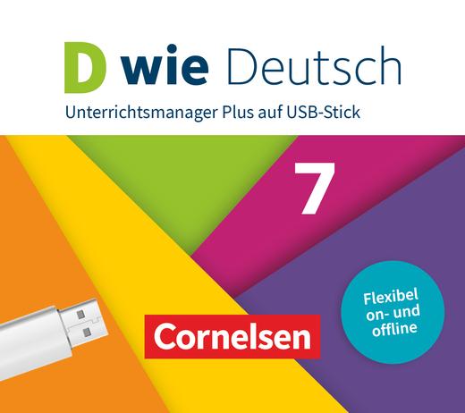 D wie Deutsch - Unterrichtsmanager Plus auf USB-Stick - 7. Schuljahr