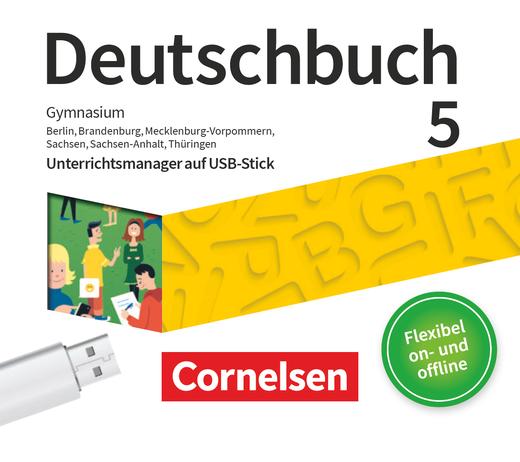 Deutschbuch Gymnasium - Unterrichtsmanager Plus auf USB-Stick - 5. Schuljahr