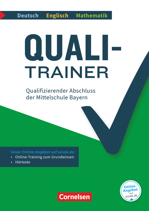 Quali-Trainer Deutsch/Englisch/Mathematik - Qualifizierender Abschluss der Mittelschule - Gesamtband - Arbeitsheft mit Lösungen und Online-Training Grundwissen - 9. Jahrgangsstufe