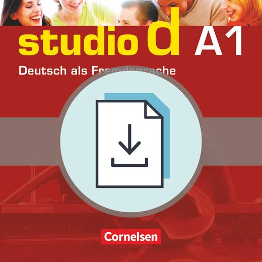 Studio d - Vokabeltaschenbuch Deutsch-Albanisch als Download - A1: Gesamtband