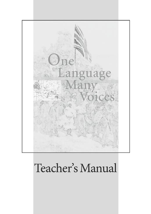 Cornelsen Senior English Library - One Language, Many Voices - Teacher's Manual mit Klausurvorschlägen - Ab 11. Schuljahr