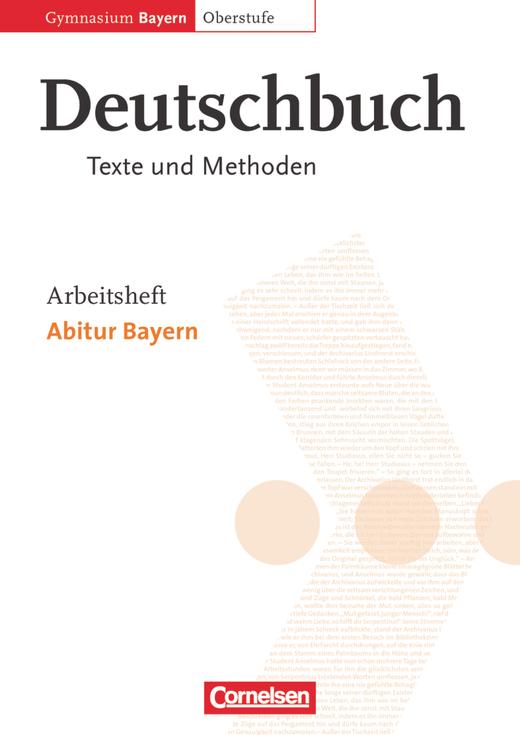 Deutschbuch - Oberstufe - Abitur Bayern - Arbeitsheft - 11./12. Jahrgangsstufe