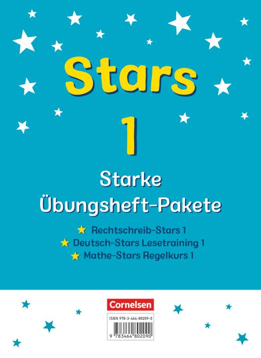 STARS - starke Übungshefte - 3 Übungshefte im Paket mit Lösungen - 1. Schuljahr