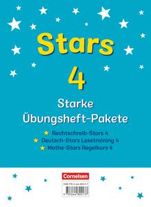 STARS - starke Übungshefte - 3 Übungshefte im Paket mit Lösungen - 4. Schuljahr