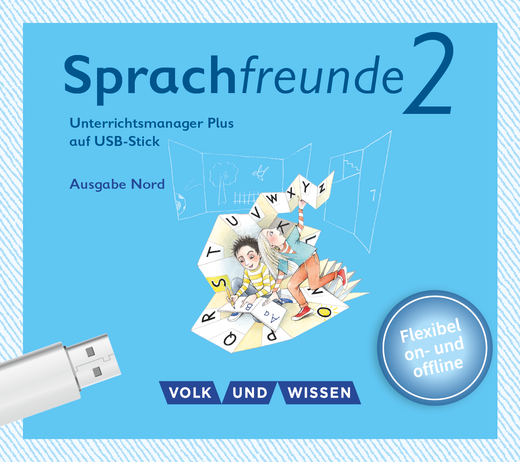 Sprachfreunde - Unterrichtsmanager Plus auf USB-Stick - 2. Schuljahr