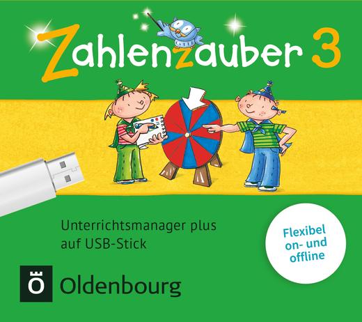 Zahlenzauber - Unterrichtsmanager Plus auf USB-Stick - 3. Schuljahr
