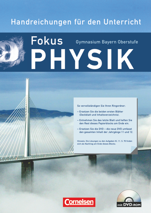 Fokus Physik - Oberstufe - Handreichungen für den Unterricht mit DVD-ROM - 12. Jahrgangsstufe