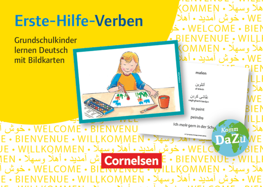 Deutsch lernen mit Fotokarten - Grundschule - Erste-Hilfe-Verben - 100 Bildkarten