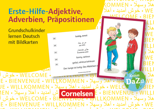 Deutsch lernen mit Fotokarten - Grundschule - Erste-Hilfe-Adjektive, Adverbien, Präpositionen - 100 Bildkarten