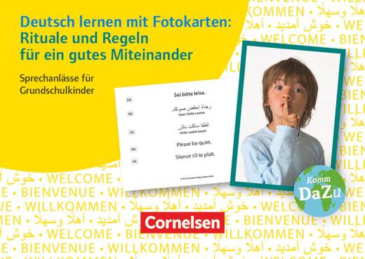 Deutsch lernen mit Fotokarten - Grundschule - Rituale und Regeln für ein gutes Miteinander - 100 Bildkarten