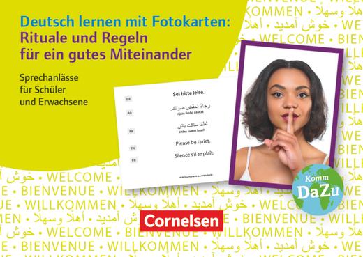 Deutsch lernen mit Fotokarten - Sekundarstufe I/II und Erwachsene - Rituale und Regeln für ein gutes Miteinander - Sprechanlässe für Schüler und Erwachsene - 100 Fotokarten