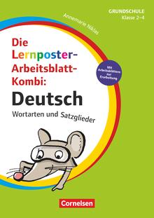 Lernposter für die Grundschule - Deutsch - Wortarten und Satzglieder - Die Lernposter-Arbeitsblatt-Kombi - 4 Poster - Klasse 2-4