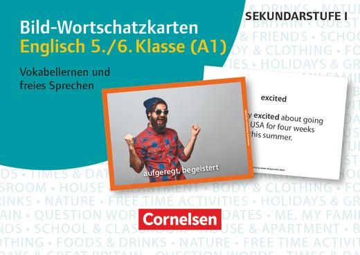 Bild-Wortschatzkarten Fremdsprachen Sekundarstufe I - Englisch 5./6. Klasse (A1) - Vokabellernen und freies Sprechen - 300 Bildkarten