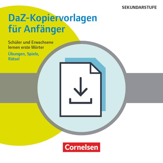 Deutsch lernen mit Fotokarten - Sekundarstufe I/II und Erwachsene - DaZ-Kopiervorlagen für Anfänger - Schüler und Erwachsene lernen erste Wörter - Übungen, Spiele, Rätsel - Kopiervorlagen als PDF-Datei