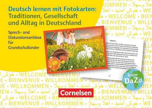 Deutsch lernen mit Fotokarten - Grundschule - Traditionen, Gesellschaft und Alltag in Deutschland - Sprech- und Diskussionsanlässe für Grundschulkinder - 72 Karten