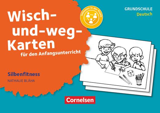 Wisch-und-weg-Karten für den Anfangsunterricht - Silbenfitness - 32 Bildkarten mit Begleitheft