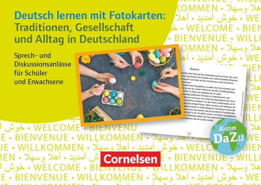 Deutsch lernen mit Fotokarten - Sekundarstufe I/II und Erwachsene - Traditionen, Gesellschaft und Alltag in Deutschland - Sprech- und Diskussionsanlässe für Schüler und Erwachsene - 72 Fotokarten