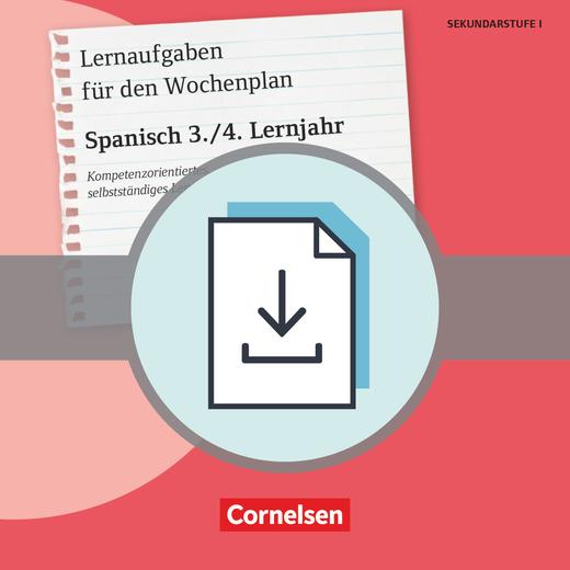 Lernaufgaben für den Wochenplan - Kopiervorlagen als PDF - 3./4. Lernjahr