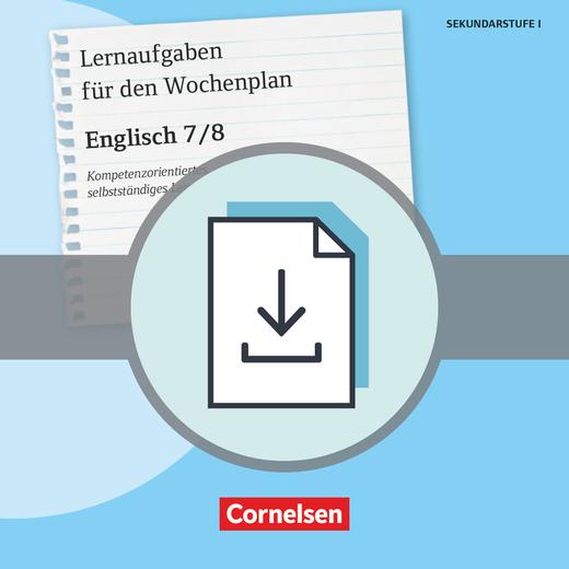Lernaufgaben für den Wochenplan - Kopiervorlagen als PDF - Klasse 7/8