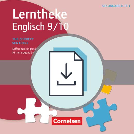 Lerntheke - The correct sentence: 9/10 (3. Auflage) - Differenzierungsmaterialien für heterogene Lerngruppen - Kopiervorlagen als PDF