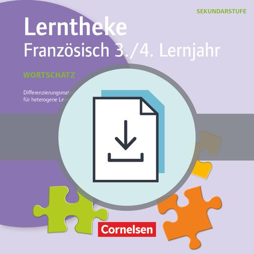 Lerntheke - Wortschatz: 3./4. Lernjahr - Differenzierungsmaterialien für heterogene Lerngruppen - Kopiervorlagen als PDF