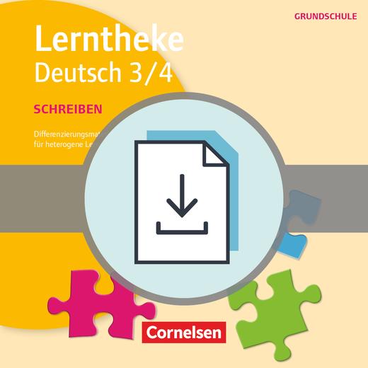 Lerntheke Grundschule - Schreiben 3/4 - Differenzierungsmaterial für heterogene Lerngruppen - Kopiervorlagen als PDF