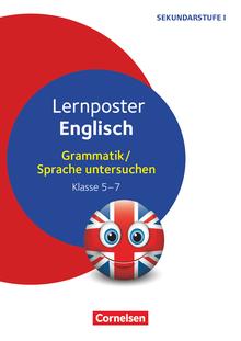 Lernposter für die Sekundarstufe - Englisch - Grammatik / Sprache untersuchen - 4 Poster - Klasse 5-7