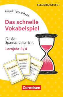 Das schnelle Vokabelspiel - Für den Spanischunterricht - 30 Lernkarten - Lernjahr 3/4
