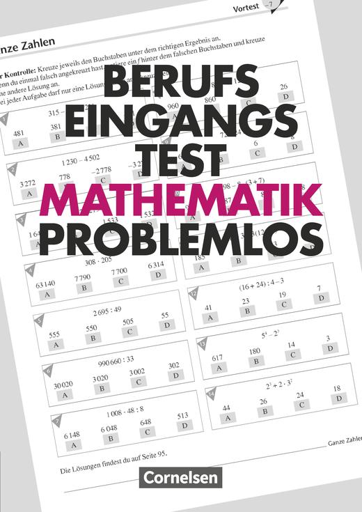 Berufseingangstest: Mathematik problemlos - Trainingsbuch mit Lösungen