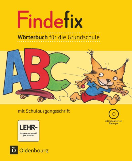 Findefix - Wörterbuch in Schulausgangsschrift mit CD-ROM