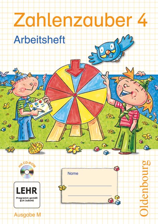 Zahlenzauber - Arbeitsheft mit eingelegtem Lösungsheft und CD-ROM - 4. Schuljahr