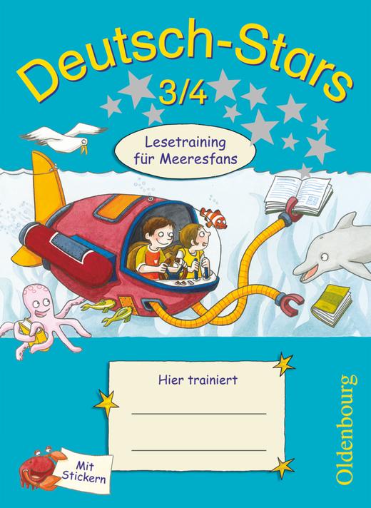 Deutsch-Stars - Lesetraining für Meeresfans - Übungsheft - 3./4. Schuljahr