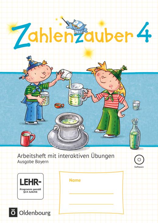 Zahlenzauber - Arbeitsheft mit interaktiven Übungen - 4. Jahrgangsstufe