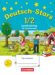 Deutsch-Stars - Lesetraining für Tierfreunde - Übungsheft - 1./2. Schuljahr