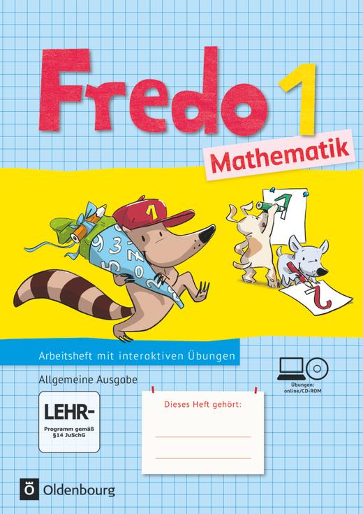 Fredo - Mathematik - Arbeitsheft mit interaktiven Übungen auf scook.de - 1. Schuljahr
