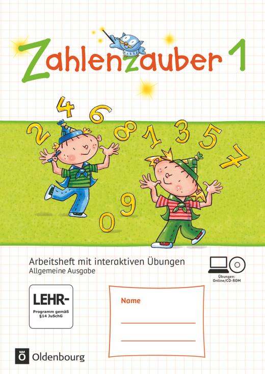 Zahlenzauber - Arbeitsheft mit interaktiven Übungen auf scook.de - 1. Schuljahr