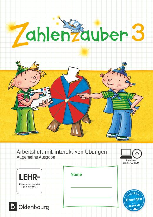 Zahlenzauber - Arbeitsheft mit interaktiven Übungen auf scook.de - 3. Schuljahr