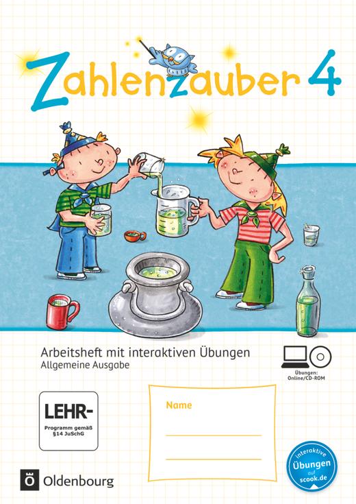 Zahlenzauber - Arbeitsheft mit interaktiven Übungen auf scook.de - 4. Schuljahr