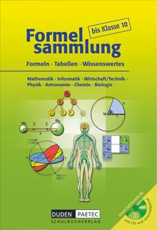 Formelsammlung bis Klasse 10 - Formelsammlung mit CD-ROM