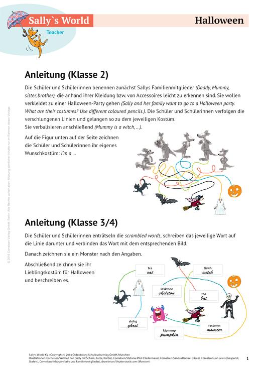 Halloween - Arbeitsblatt | Cornelsen