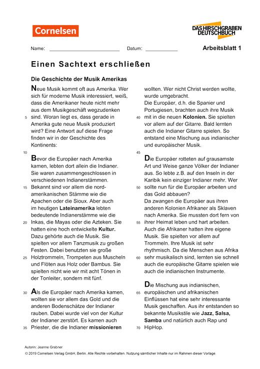 Einen Sachtext erschließen (1), Schulbuch plus, Sek Deutsch ...